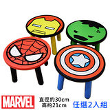 【MARVEL】漫威授權木製矮凳/椅凳/小椅子/兒童椅(台灣製正版授權)-兩入組