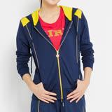 TOP GIRL 貓頭鷹圖騰連帽長袖外套-藍