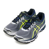 【男】Asics亞瑟士 專業慢跑鞋 GT-1000 4 2E寬楦 灰藍黃 T5A3N-9707