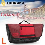 【美國 TIMBUK2】新款 Catapult 輕巧郵差包(L,7L)/ 744-6-6061 紅/黑