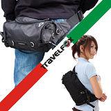 【Travel Fox】旅狐經典隨身臀/腰/斜背包(黑)TB236-01