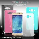 VXTRA 三星 Samsung Galaxy A8 時尚磨砂質感 糖果色保護殼