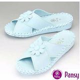 Pansy】日本品牌 厚底 室內女士拖鞋-9370-藍色