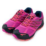 【女】GOOD YEAR 專業防水越野跑鞋 waterproof 桃橘黑 WR52202