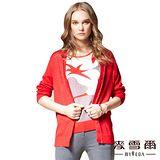 【麥雪爾】蠶絲V領純色針織外套-三色