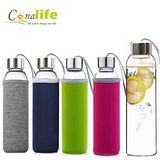 Conalife 冷熱兩用玻璃水瓶550ml