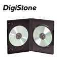 DigiStone 雙片光碟片精裝優質軟盒/黑色 20PCS