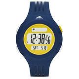 adidas 勁戰狙擊大面板電子腕錶-黃X深藍