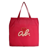 agnes b. 經典ab Heart購物袋(桃紅色)