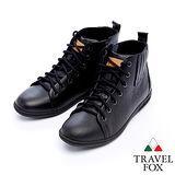 女Travel Fox 奇蒙高統休閒鞋915384(黑-01)