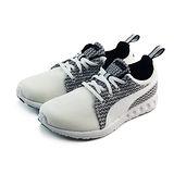 (女)PUMA CARSON RUNNER KNIT WNS 慢跑鞋 白/黑-18815105
