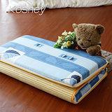 《KOSNEY 羽毛花語》大青竹軟式三折式冬夏兩用床墊3x6尺單人台灣製造