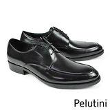 【Pelutini】裙飾U-Tip紳士鞋 黑色(9120-BL)