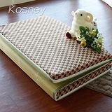 《KOSNEY 咖啡空間》台灣製8cm三折式冬夏兩用床墊3x6尺單人