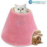 日本Marukan圓柱型2way貓咪多功能遊戲屋|睡床CT-250