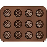 《TESCOMA》巧克力模+層架(花式)