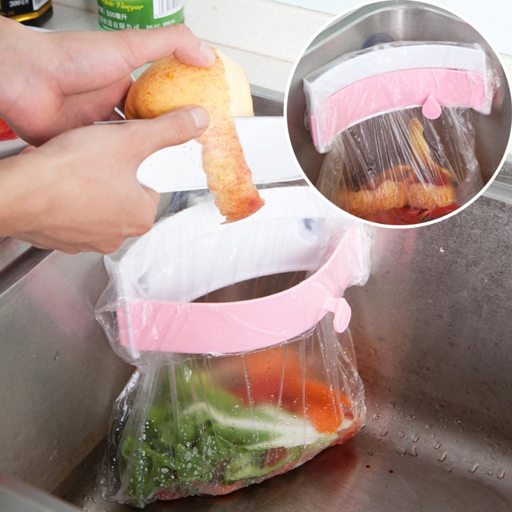 【Bunny】萬能三吸盤弧形可夾式垃圾袋架(三入)