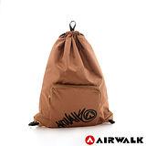 AIRWALK - 輕便束口袋 無拘無束 自由出走輕便束口後背包 - 秋桐咖