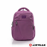 AIRWALK - 晴艷彩耀極輕便隨掛行李箱拉桿之旅行後背包 - 極光紫