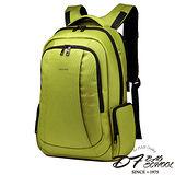 DF BAGSCHOOL - 高磅尼龍筆電可攜防盜款後背包-綠色