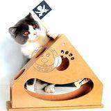 外銷歐美鐘擺式木質海盜船貓玩具30cm
