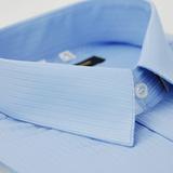 【金安德森】藍色仿絲質窄版短袖襯衫(品特)