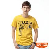 5th STREET 1965美軍印花T恤-男-黃色