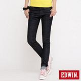 EDWIN MISS503袋蓋窄直筒牛仔褲-女-原藍色
