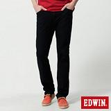 EDWIN 迦績褲JERSEYS針織中直筒牛仔褲-男-原藍色
