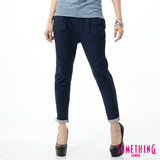 SOMETHING LADIVA打折小泡牛仔褲-女-原藍色