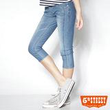 5th STREET 完美比例 針織清涼六分褲-女款(漂淺藍)