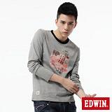 EDWIN T恤 懷舊相片圓領T恤-男-灰色