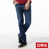 EDWIN 窄直筒 EDGE COOL繡邊牛仔褲-男-中古藍