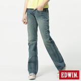 EDWIN MISS 503RV中直筒牛仔褲-女-拔洗藍