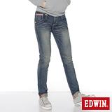 EDWIN MISS 503 B.T小花AB牛仔褲-女-中古藍