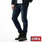 EDWIN 迦績褲JERSEYS剪接立體牛仔褲-男-中古藍