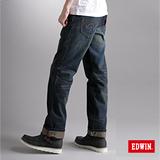 EDWIN XV直筒牛仔褲-男-中古藍