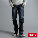 EDWIN E-FUNCTION 袋蓋中直筒牛仔褲-男-原藍磨