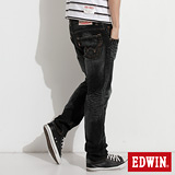 EDWIN 大尺碼NEW503五袋直筒牛仔褲-男-灰色