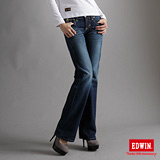 EDWIN BLUE TRIP寬直筒牛仔褲-女-原藍磨