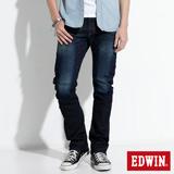 EDWIN E-F ZERO伸縮中直筒牛仔褲-男-原藍磨