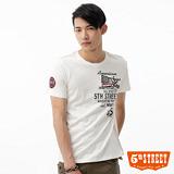 5th STREET 國旗貼布印花T恤-男-白色