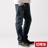 EDWIN BT牛皮袋蓋中直筒牛仔褲-男-中古藍