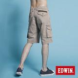 EDWIN KHAKI貼袋馬褲-男-灰卡其