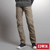 EDWIN W-F EF迷彩窄直筒保溫褲-男-褐色