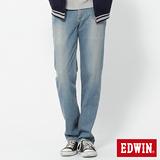 EDWIN REBEL基本五袋直筒牛仔褲-男-拔淺藍
