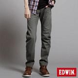 EDWIN 大尺碼W.F EF迷彩中直筒保溫褲-男-橄欖綠