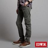 EDWIN W-F EF迷彩窄直筒保溫褲-男-橄欖綠