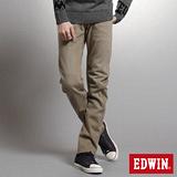 EDWIN 大尺碼W.F EF迷彩中直筒保溫褲-男-褐色