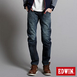 EDWIN 大尺碼W.F EF迷彩中直筒保溫褲-男-中古藍